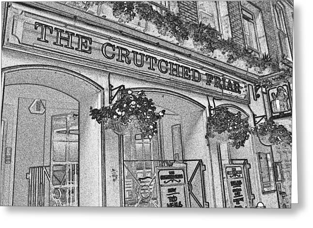 The Crutched Friar Public House Greeting Card by David Pyatt