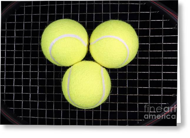 Time For Tennis Greeting Card by John Van Decker