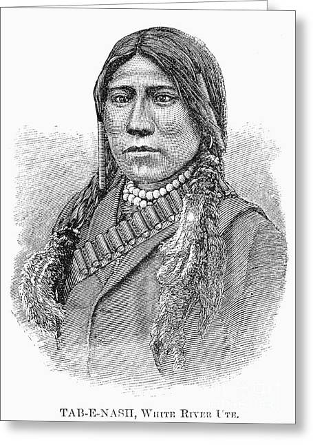 Ute Chief, 1879 Greeting Card by Granger