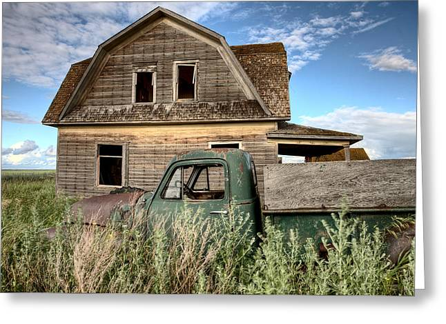 Vintage Farm Trucks Greeting Card