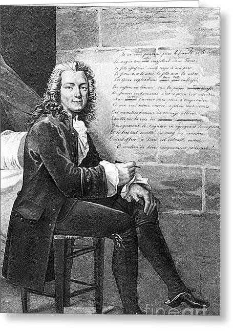 Voltaire (1694-1778) Greeting Card by Granger