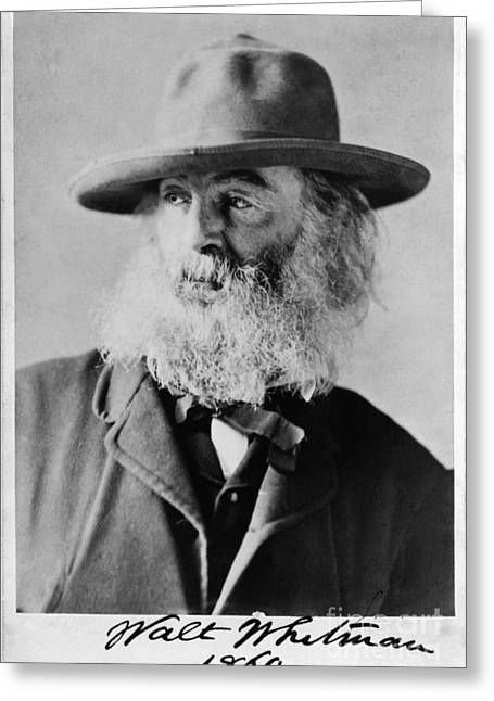 Walt Whitman, American Poet Greeting Card by Photo Researchers