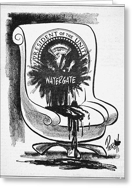 Watergate Scandal, 1973 Greeting Card by Granger