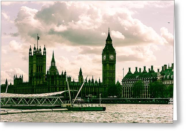 Westminster Greeting Card by Dawn OConnor