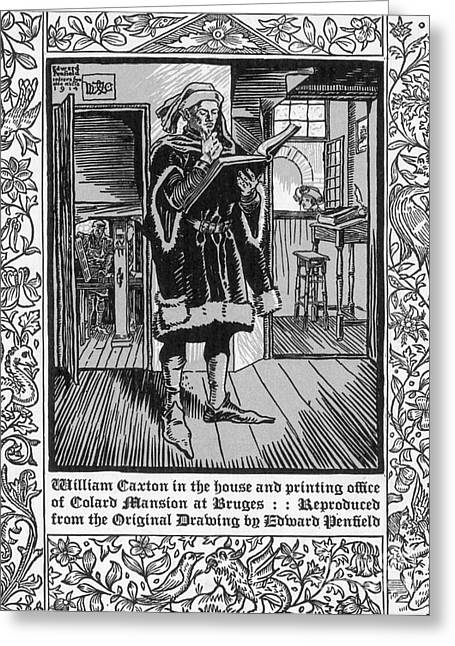William Caxton, English Printer Greeting Card by Science Source