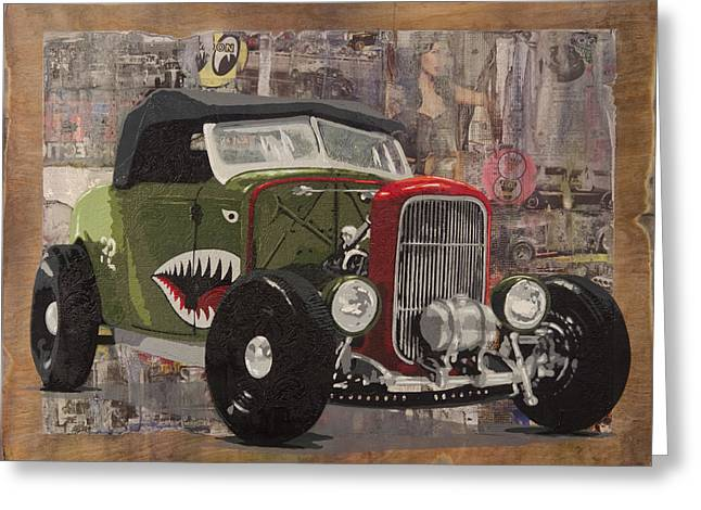 32 Ford Roadster Warhawk Greeting Card by Josh Bernstein