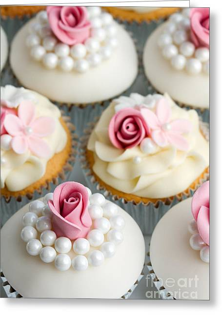 Frosting Greeting Cards - Wedding cupcakes Greeting Card by Ruth Black