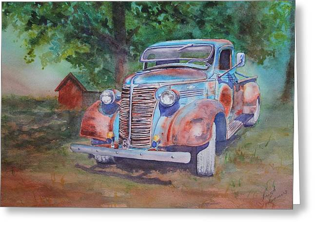 '38 Chevy Greeting Card