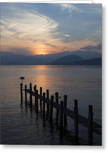 Lake Maggiore Greeting Card by Joana Kruse