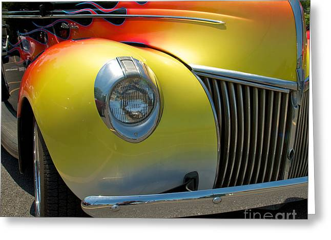 39 Ford Deluxe Hot Rod 3 Greeting Card by Mark Dodd