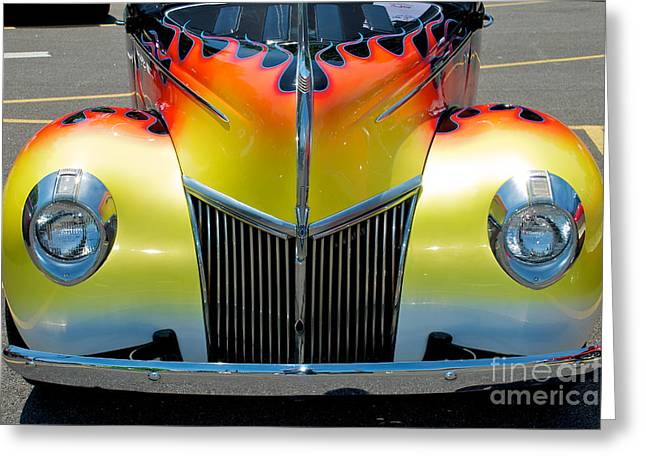 39 Ford Deluxe Hot Rod Grill Greeting Card by Mark Dodd