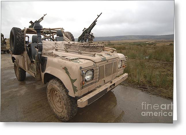 A Pink Panther Land Rover Greeting Card