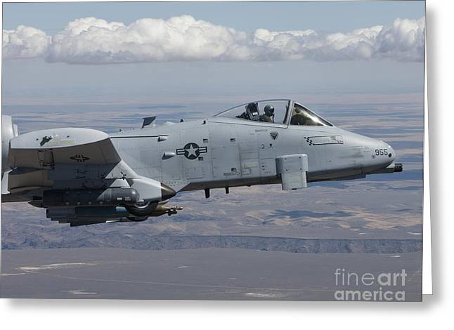 An A-10c Thunderbolt Flies Greeting Card by HIGH-G Productions