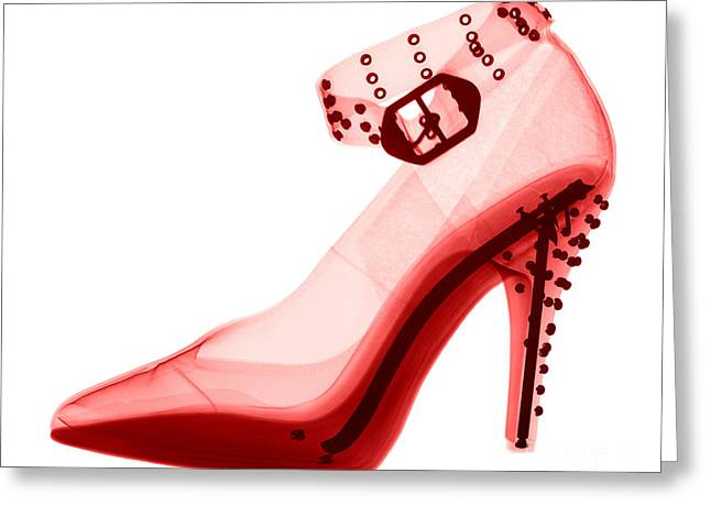 An X-ray Of A High Heel Shoe Greeting Card by Ted Kinsman