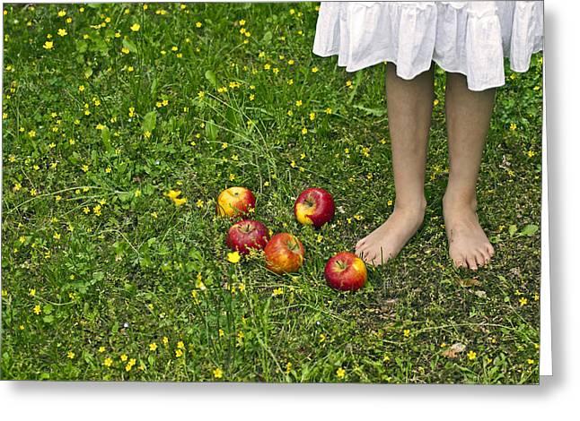 Apples Greeting Card by Joana Kruse