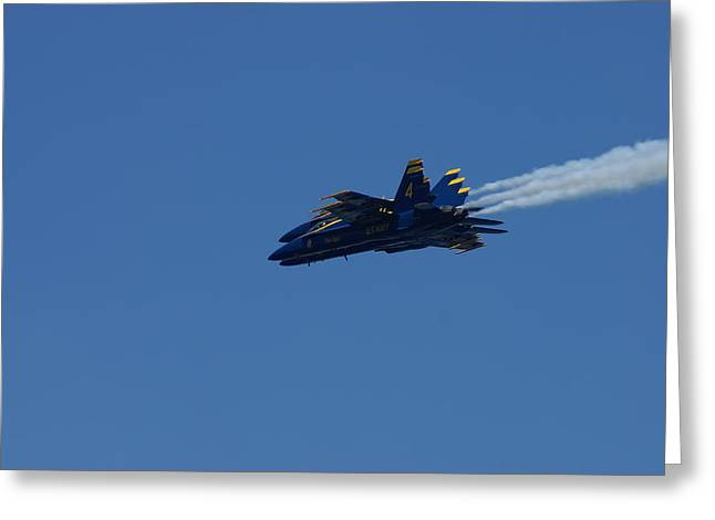 4 Blue Angels Greeting Card
