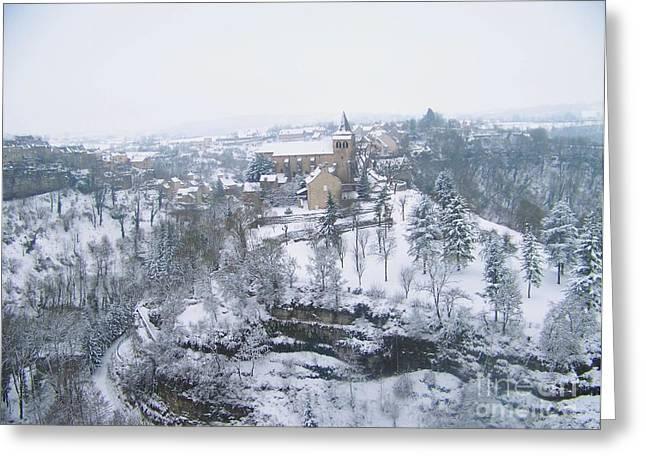 Bozouls Winter Greeting Card