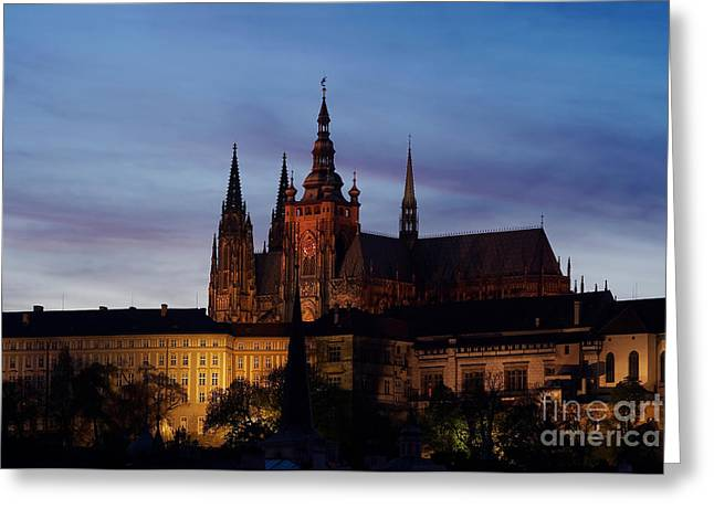 Cathedral Of St Vitus Greeting Card by Michal Boubin