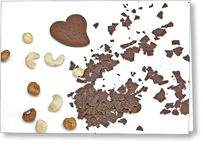 Chocolate Heart Greeting Card by Joana Kruse