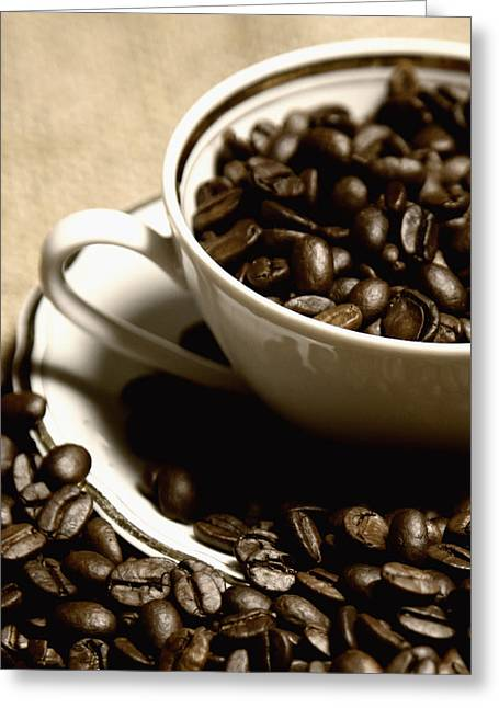 Coffee Cup Greeting Card by Falko Follert