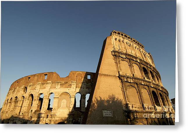 Coliseum. Rome Greeting Card by Bernard Jaubert