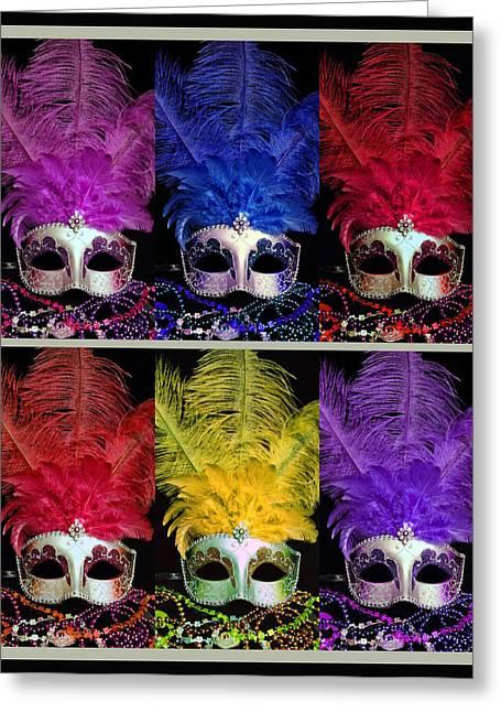 Colorful Mardi Gras Masks Greeting Card
