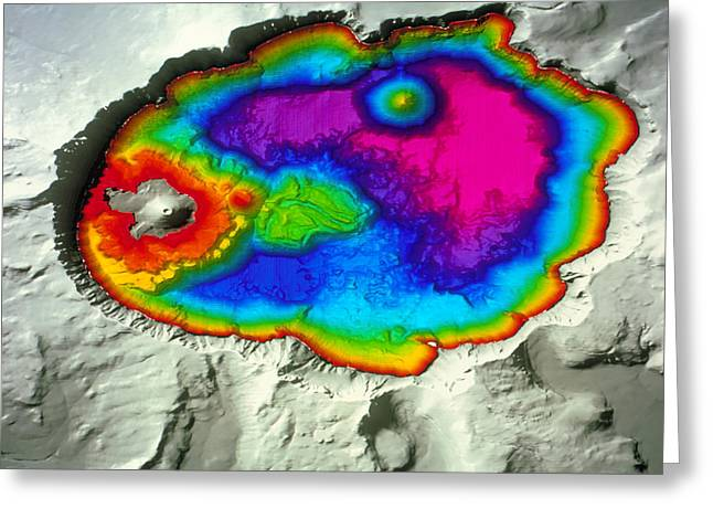 Crater Lake Greeting Card by Us Geological Survey