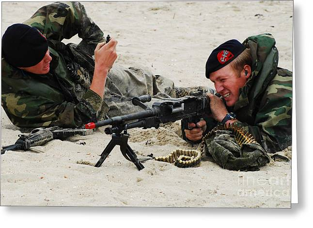 Dutch Royal Marines Taking Part Greeting Card by Luc De Jaeger