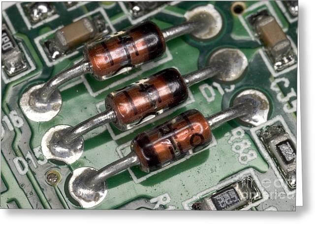 Electronics Board Greeting Card by Ted Kinsman