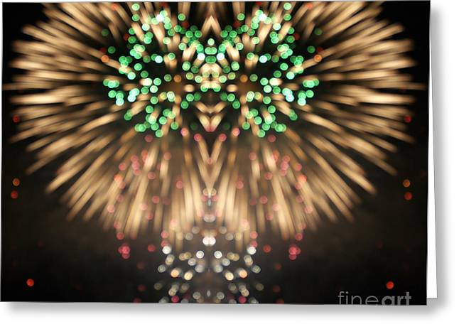 Firework Greeting Card by Odon Czintos