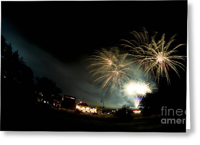 Fireworks Greeting Card by Angel Ciesniarska