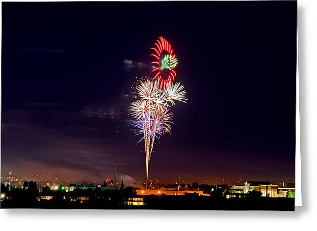 Fireworks Greeting Card by Elijah Weber