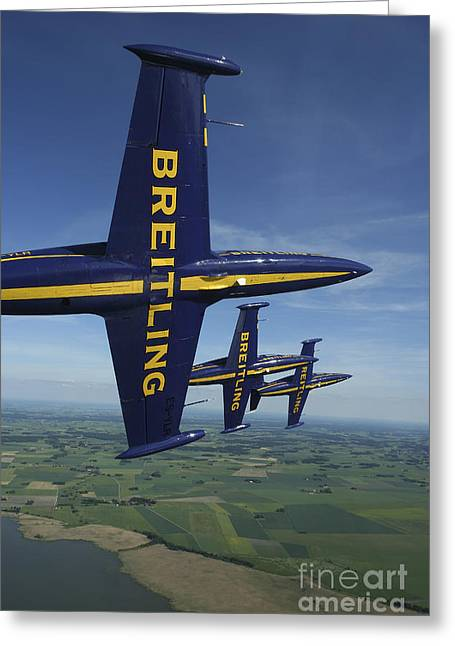 Flying With The Aero L-39 Albatros Greeting Card by Daniel Karlsson