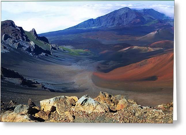 Haleakala Crater In Maui Hawaii Greeting Card