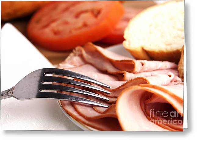 Ham Lunch Spread Greeting Card by Blink Images
