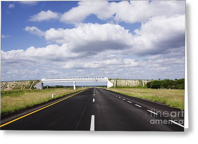 Highway Greeting Card by Jeremy Woodhouse