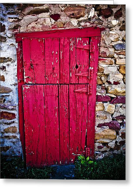 4 Hinges Greeting Card by Marilyn Hunt