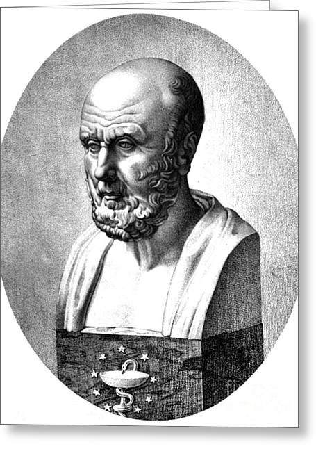 Hippocrates, Greek Physician, Father Greeting Card by Science Source