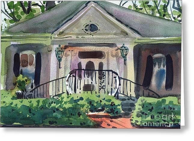 Hiram Butler House Greeting Card by Donald Maier