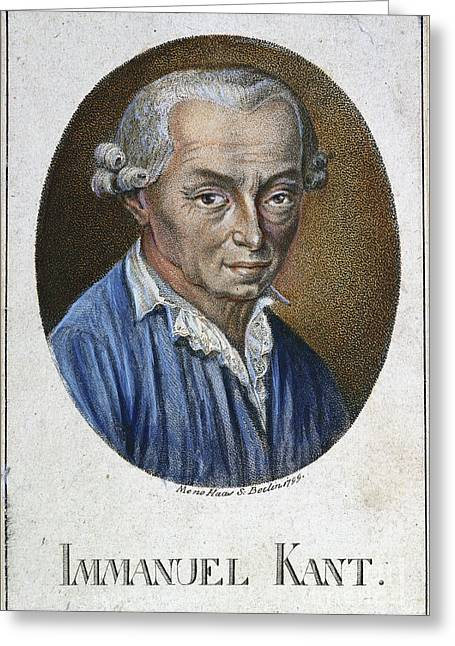 Immanuel Kant (1724-1804) Greeting Card by Granger