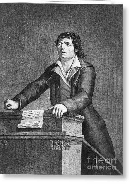 Jean-paul Marat (1743-1793) Greeting Card by Granger
