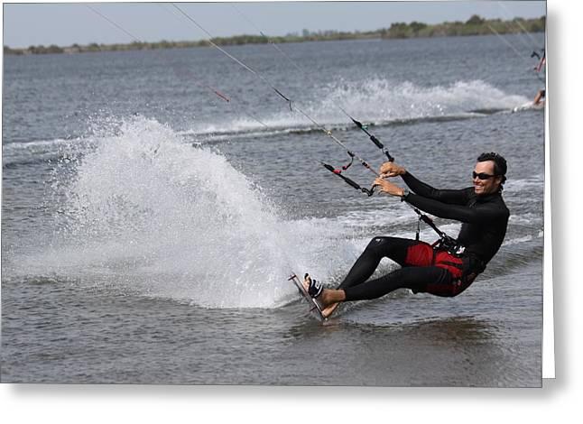 Kite Boarding Greeting Card