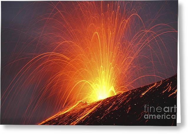 Krakatau Eruption, Sunda Strait Greeting Card