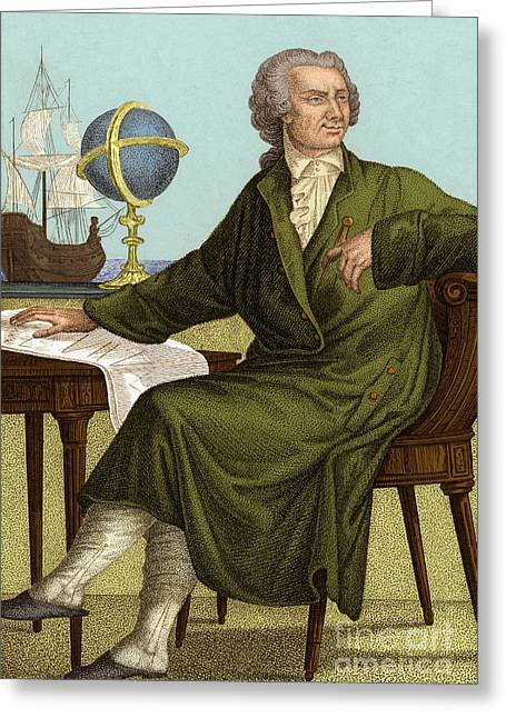 Leonhard Euler Greeting Card by Science Source