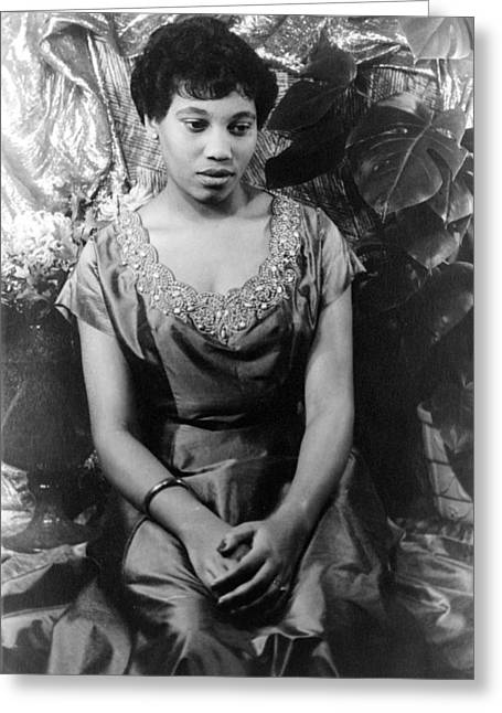 Leontyne Price (1927- ) Greeting Card by Granger