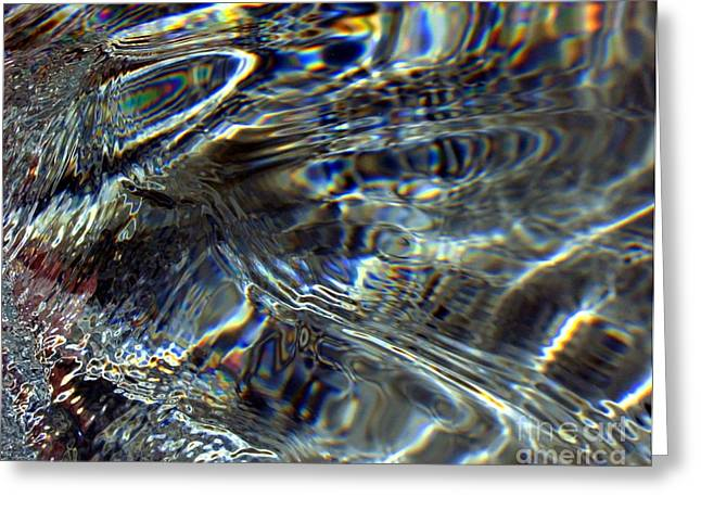 Light On Water Greeting Card by Dale   Ford