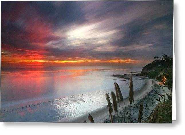 Long Exposure Sunset At A North San Greeting Card by Larry Marshall