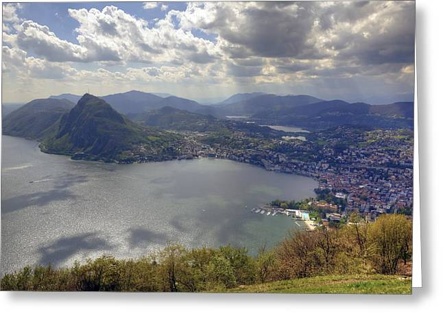 Lugano Greeting Card by Joana Kruse