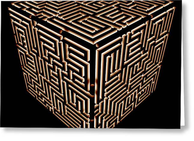 Maze, Artwork Greeting Card by Pasieka