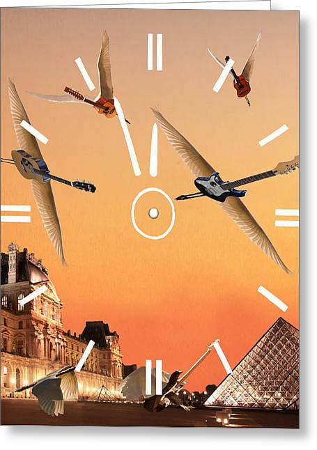 4 Minutes To Rock Greeting Card by Eric Kempson